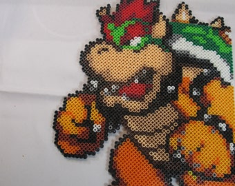 Super Mario Bros Bowser Perler Beads