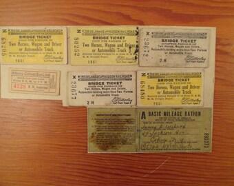 Lof Of Vintage Tickets