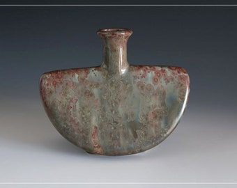 "Watermelon  - Crystalline Glaze ""Red Chameleon"""
