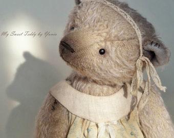 Collectible Teddy Bear Emily, artist teddy bear, teddy bear, stuffed toy, interior doll