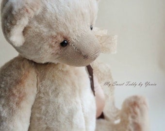 Collectible Bear Leo, teddy bear, artist teddy bear, interior doll