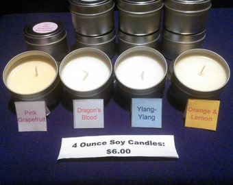 4 Ounce Soy Candles