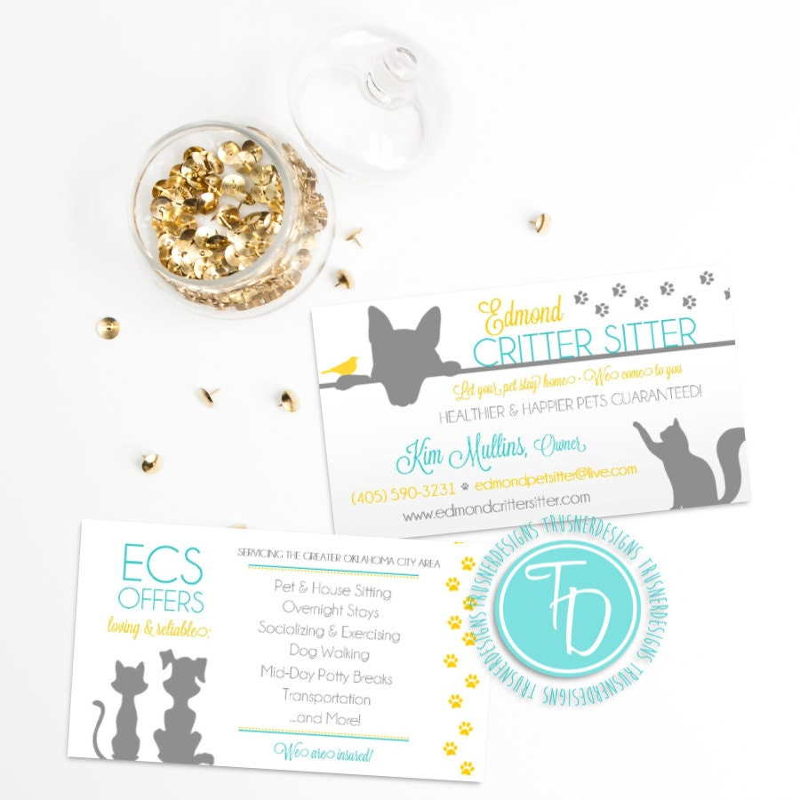 Pet Sitting Business Cards | Unlimitedgamers.co
