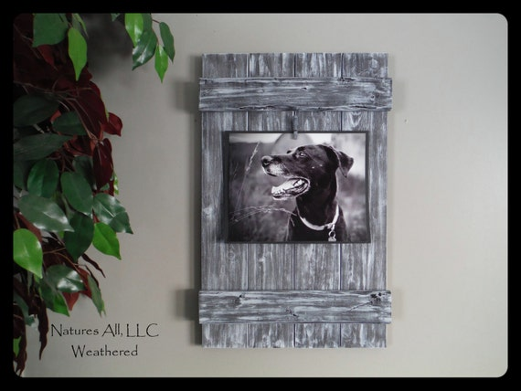 Rustic Picture Frame-8x10/ Home Decor Ideas/Country Picture Frame/Country Home Decor/Weathered Gray/Shipping Included: Item# 810-3530