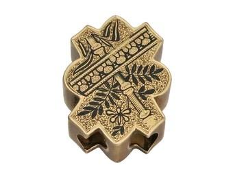 Victorian 14K Gold Enamel Slide Pendant