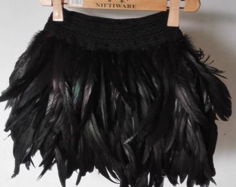 15.75 inches (40cm) high waist rooster feather skirt for party, show, ball #SKT16005