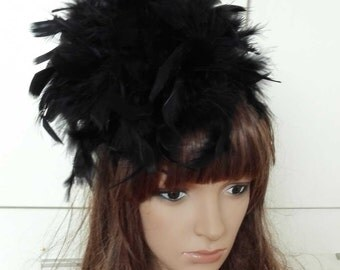 Chandella feather headband fascinator hat # HWW15033B