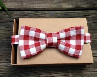 bow tie pre tied, gingham, bowtie, BowTie vichy, retro bowtie