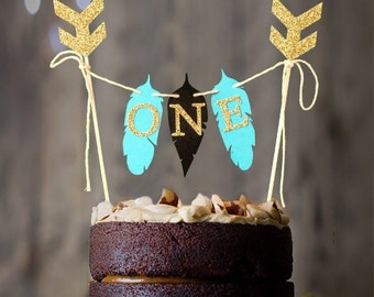 One Cake Bunting, One Cake Topper, wild one cake topper