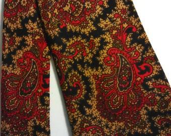 456.  Wool challis necktie