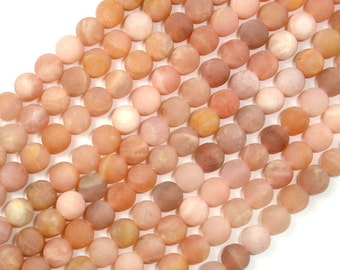Matte Sunstone Beads, Round, 6mm, 15 Inch, Full strand, Approx 64 beads, Hole 1 mm (418054006)