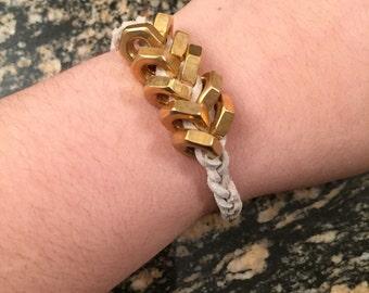 Hexagon Braided Bracelet. Multiple Colors Available. Stacking Bracelet