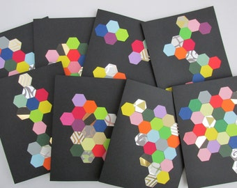 Abstract Hexagon Card - No message inside