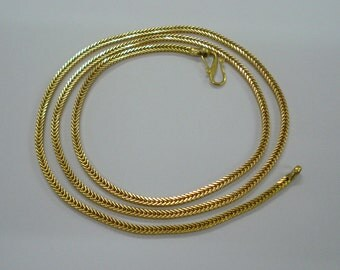 Traditional design 18kt gold chain necklace from rajasthan india