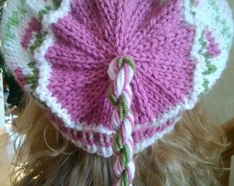 Roses and Hearts Fair Isle Hat Pattern