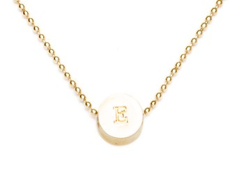 E initial bead necklace