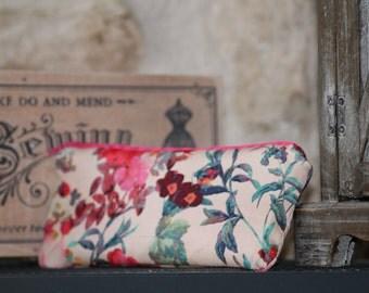 Make up wallet vintage flowers