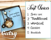 Personalized Custom Note Enclosure for Your Gutsy Goodness Pendant Necklace or Jewelry Item in Gift Box