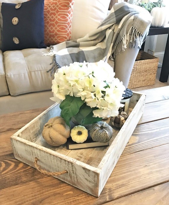 Easy Home Decorating With Trays: Items Similar To Wood Tray, Rustic Tray, Wood Serving Tray