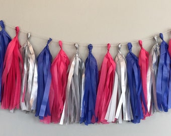 Gender Reveal Garland Tassels