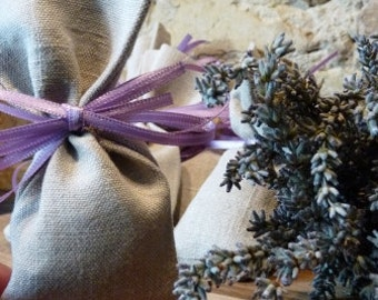 set of 10 natural fragrant lavender sachet small