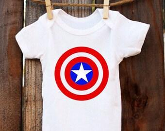 Iron On Captain America Avengers logo