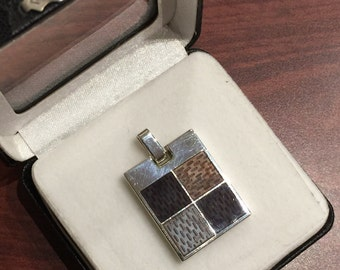 925 solid silver and stone inlaid pendant by Louis Vuitton, Paris
