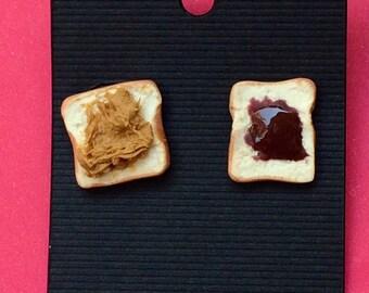 Peanut Butter & Grape Jelly Earrings