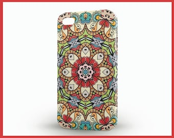 Mandala iPhone5 cover, Colorful iPhone5 cover, Bright colored iPhone 5 case, Spanish iPhone 5c case, iPhone SE phone case, Latino phone case