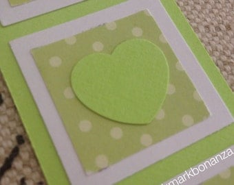Lime Heart Bookmark