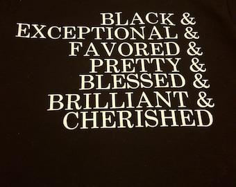 Black Adjective T-shirt - Black T-shirt - Black Words Tshirt