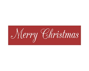 CHRISTMAS STENCIL - 6 x 22 stencil - Merry Christmas Stencil - Create your own christmas signs!