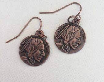 Indian Head Earrings