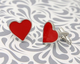 ON SALE Heart Valentines Love Cufflinks