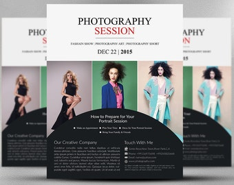 Photography Session Flyer Template - Photography Session Flyer - Session Flyer - Photoshop Template - INSTANT DOWNLOAD