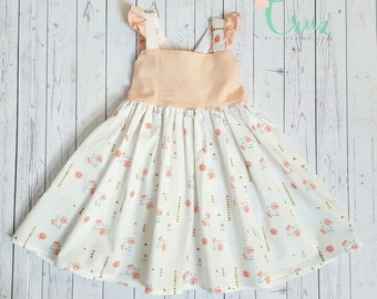 Ruffle-Tie back-summer dress-Girl's -party dress