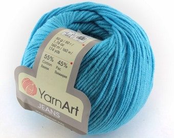 YarnArt JEANS cotton, semi cotton  for crochet and knitting 50 grams - 160 meters