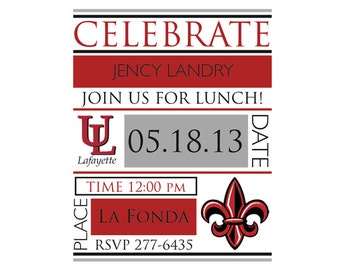 Ragin Cajun Party Invitation - Louisiana