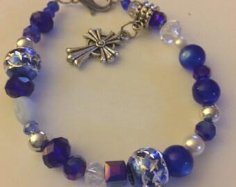 Brazilian Blue beaded bracelet