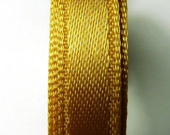 30 meters Satin ribbon 9mm gold