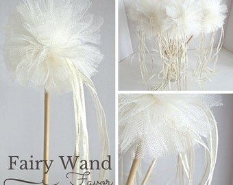 Fairy Wands, Fairy Party Favor, Ivory and Gold, Set of 8