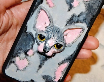 Sphynx cat - VEGAN - iPhone 6 case - iPhone 6s case - Phone case - cat lover gift - iphone 7 case - iphone 7 plus case - 3D phone case