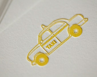 Taxi Note Cards