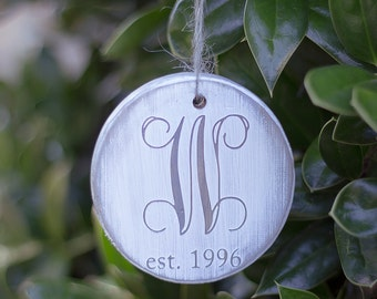 Personalized Christmas Ornament - Rustic Christmas Ornament - Custom Christmas Ornament - Rustic Christmas Decorations - Gift For Couples