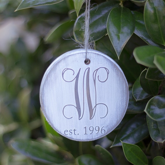 personalized christmas ornament rustic christmas ornament