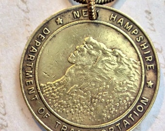 New Hampshire Coin Transit Token Necklace