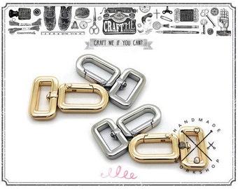"4 pcs 5/8""(strap wide) Push Gate Swivel Hooks metal purse hardware"