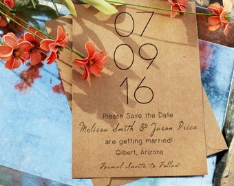 Save the Date - Rustic Save the Date - Simple Save the Date [Download or Printed]