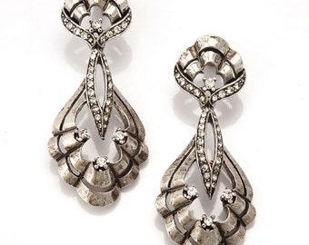 Silver Chandelier Earring, Vintage Design