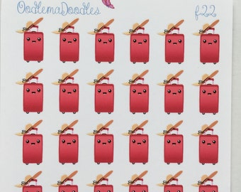Suitcase Kawaii Stickers : F22